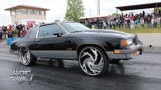 Download WhipAddict: Supercharged LSX Oldsmobile Cutlass 442 Burnouts and Track Action on Amani Forged 26s Video