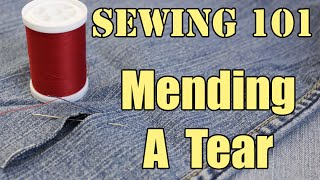 Download Sewing 101: Mending A Tear Video
