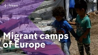 Download Greek migrant camps at breaking point as arrivals continue Video