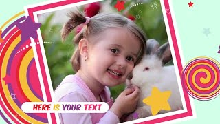 Download Kids Photo Gallery Premiere Pro Templates Video
