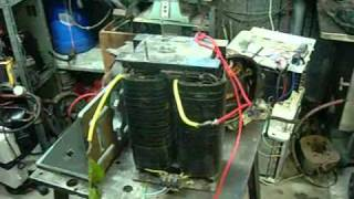 Download Very Dangerous RF welder Transformer - 14 Inch Arcs! Video