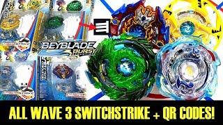 Download ALL WAVE 3 SWITCHSTRIKE + QR CODES + BATTLES! BEYBLADE BURST EVOLUTION Video