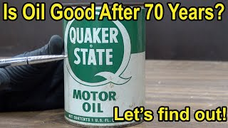 Download Is Oil Good After 70 Years? Let's find out! Video