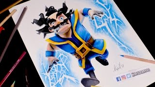 Download Como dibujo al Mago Eléctrico de Clash Royale | How to draw Electro Wizard Video