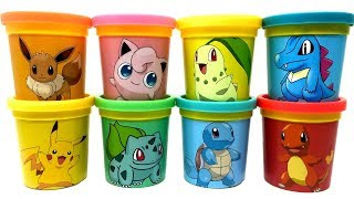 Download Pokemon Go Play-Doh Can Heads & Toys Eevee Pikachu Jigglypuff Bulbasaur Squirtle Charmander Video