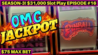 Download $75 Max Bet HIGH LIMIT Pinball Slot HANDPAY JACKPOT | Season 3 | EPISODE #16 Video