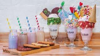 Download Overflowing Milkshakes at JoJo's Milk Bar Video