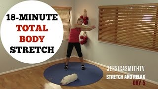 Download 18 Minute Full Body Stretching Flexibility Routine - No Equipment for All Levels Video