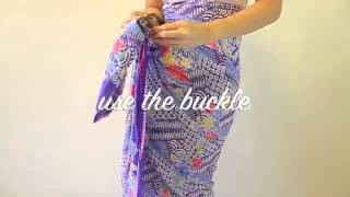 Download How to wear Peranakan sarong rayon with buckle Video