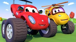 Download Monster Truck Town - Mia the Monster Copter's accident in the Well! Monster Trucks Cartoon for Kids Video