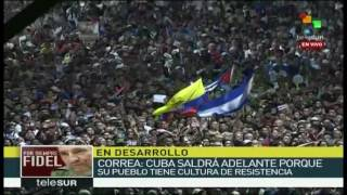 Download Cuba Rafael Correa en homenaje a Fidel Castro Video