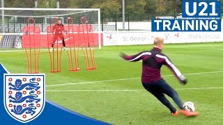 Download England U21s free-kick practice | Inside Training Video