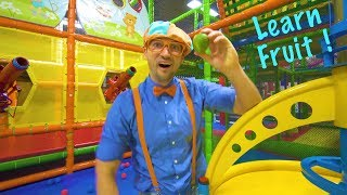Download Play at the Play Place with Blippi | Learn Fruit and Healthy Eating for Children Video