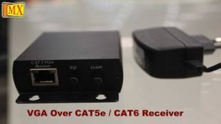 Download Extend VGA cable signals over Cat 5e Cat 6 cables upto 300 meters Transreceivers Video