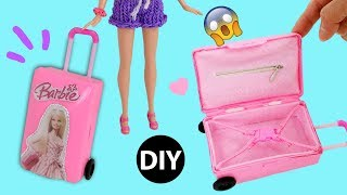 Download DIY Mini Suitcase for Doll/Dollhouse Accessories Miniature Barbie Rolling Luggage Video