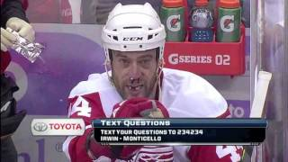 Download Todd Bertuzzi Mouths ″You're Dead″ at Devin Setoguchi after high stick Video