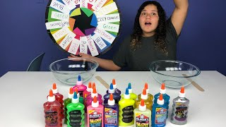 Download 3 COLORS OF GLUE SLIME CHALLENGE CHALLENGE MYSTERY WHEEL OF SLIME EDITION ALL BY MYSELF Video