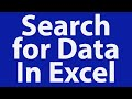 Download Search for Data In Excel Database with UserForm Video