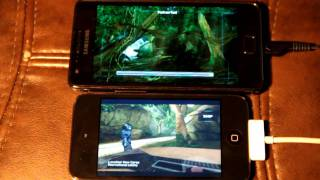 Download Samsung Galaxy S 2 vs Ipod Touch 4 (Nova gaming test) Video