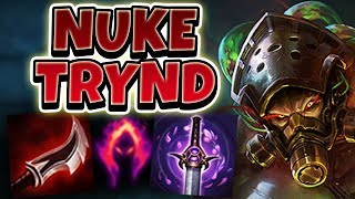 Download DARK HARVEST LETHALITY TRYNDAMERE! NUKE ENEMIES WITH 1 HIT AUTO!! - League of Legends Full Gameplay Video