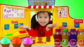 Download Jannie Pretend Play BAKING with Snack Shop Toy Set Video