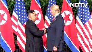 Download सिंगापुर में किम-ट्रंप की ऐतिहासिक बैठक : अमेरिकी राष्ट्रपति ने कहा- अच्छी बातचीत की उम्मीद Video