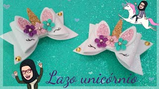 Download 🦄🎀UNICÓRNIO, ″lazo o moño unicórnio″ en goma eva o foamy 🦄🎀″foam hair bow″ unicorn. Video