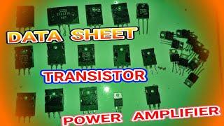 Download TRANSISTOR PENGGANTI/PERSAMAAN UNTUK TRANSISTOR POWER AMPLIFIER. Video