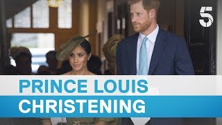 Download Meghan Markle and Prince Harry amongst guests at Prince Louis christening - 5 News Video