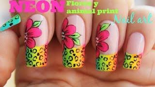 Download Decoración de uñas flores neon con animal print Video