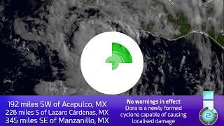 Download Tropical Storm Dora - Update 1 (15:00 UTC, June 25, 2017) Video