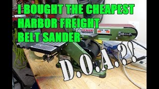 Download Harbor Freight Belt disc sander unboxing review - Central Machinery 97181 Video
