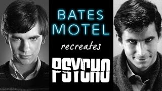 Download BATES MOTEL recreates PSYCHO - (complete references) Video