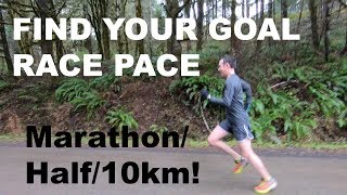 Download HOW TO FIND YOUR RACE PACE FOR THE HALF MARATHON, 10KM, MARATHON   Sage Running Tips Video