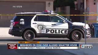 Download Neighbors on edge after alleged squatters move in near Torrey Pines and Smoke Ranch Video