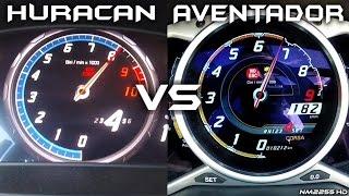 Download Lamborghini Huracan vs. Lamborghini Aventador 0-200km/h Acceleration Comparison Video