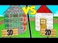 Download CASA IN 3D contro CASA IN 2D su MINECRAFT! Video