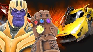 Download Can Thanos' INFINITY GAUNTLET Destroy CARS & VEHICLES in Gmod? Video
