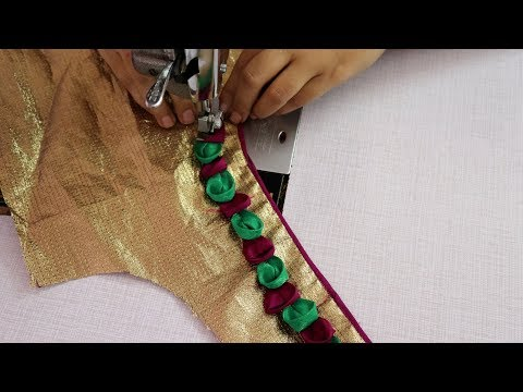 Patch Work Design for Saree Blouse Cutting and Stitching 2019