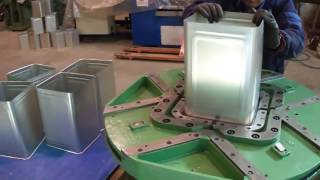 Download 18 Liters Semiautomatic Square Can Line | Villalta Canmaking Machinery Video