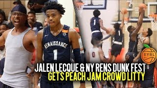 Download Jalen Lecque Puts On A SHOW at Nike Peach Jam!! Crazy In Game Windmill Gets Crowd LIT!! Video