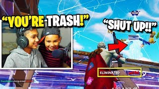 Download 7 Year Old TRASH TALKS Angry Streamer after I beat him in a 1v1 BUILD BATTLE in Fortnite! (RAGE) Video