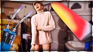 Download EXPERIMENT Glowing 1000 degree KNIFE VS HUMAN BODY PART Video