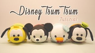 Download DIY Disney Tsum Tsum Plushies - Mickey Mouse, Donald Duck, Goofy & Pluto (for Sweetorials Auditions) Video
