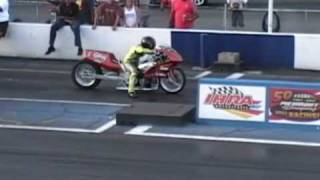 Download Drag bike rides 1/8th mile wheelie Video