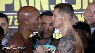 Download Hopkins goes after Smith! Bernard Hopkins vs. Joe smith Jr. Full Weigh In Video & Face Off Video