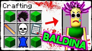 Download Minecraft BALDI - How to Summon BALDINA in Crafting Table! Video
