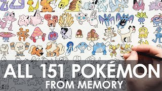 Download DRAWING ALL 151 POKEMON (FROM MEMORY!) Video