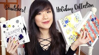 Download ColourPop Holiday 2016 Collection Swatched! Video