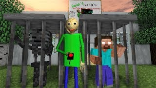 Download Monster School : HEROBRINE PRANKS BALDI - Horror Minecraft Animation Video